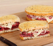 Corned Beef Sandwiches Stock Photo