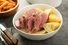 Corned-Beef und Kohl Lizenzfreies Stockbild
