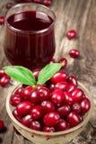 Cornel berry juice Stock Photo