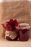 Cornel jam jars Royalty Free Stock Photography