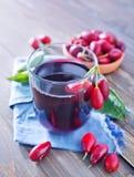 Cornel juice Stock Image