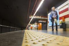 Cornelia subway station - people waiting Stock Photo