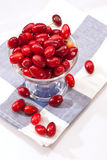 Cornelian cherries Stock Photo