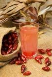 Cornelian cherry compote. Dogwood berries Royalty Free Stock Photography