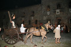 Corneliano - mittelalterliches Festival Stockfotografie