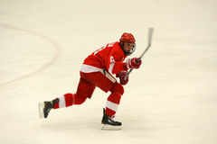 Cornell #17 in NCAA Hockey Game Royalty Free Stock Photo