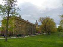 Cornell Arts Quad Historic District during springtime Royalty Free Stock Images