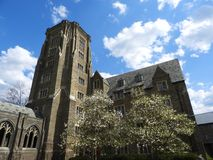 Cornell-Campus Kriegs-Denkmalturm im Frühjahr lizenzfreies stockfoto