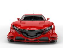 Cornell red concept super sports car - front view closeup Stock Photography