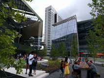 Cornell Tech. New campus Cornell Tech was officially opened today 8/05/17 on Roosevelt Island New York Stock Photos