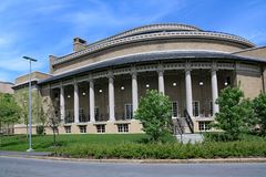 Cornell University auditorium building stock image