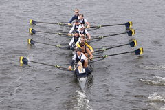 Cornell University races in the Head of Charles Regatta Men's Master EightsMichigan Stock Photos