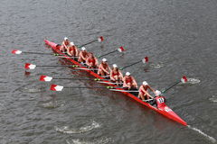 Cornell University races in the Head of Charles Regatta Women's Championship Eights Stock Photos