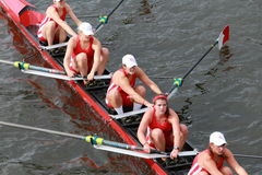 Cornell University races in the Head of Charles Regatta Women's Championship Eights Royalty Free Stock Images