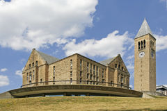 Cornell University Uris Library and McGraw Tower. Founded in 1865 Cornell University grounds are filled with beautiful architecture and history. This is only one royalty free stock photos