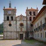 Cornellana, Camino de Santiago, Spain. Old monastery of Cornellana, landmark on the Camino de Santiago trail between Grado and Salas, Asturias, Spain royalty free stock image