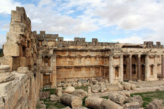 On the corner. Of big temple in Baalbeck, Lebanon Royalty Free Stock Images