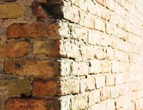 Corner. Old brick wall Royalty Free Stock Images