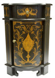 Corner Accent Table. In Black and Gold Finish Royalty Free Stock Photos