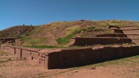 Corner Of Akapana Wall Ruins, La Paz, Bolivia