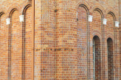 Corner of ancient brick building Royalty Free Stock Photos