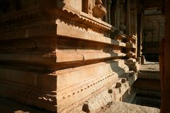 Corner of ancient building in hampi india Stock Photo