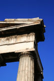 Corner of ancient Greek temple. A detailed view of the remaining corner of an ancient Greek temple Stock Photo