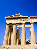 The corner of Ancient Parthenon Royalty Free Stock Photos