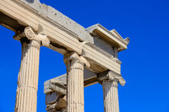 The corner of Ancient Parthenon Stock Photos