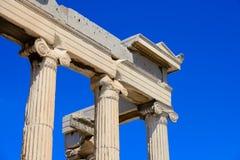 The corner of Ancient Parthenon Stock Photos