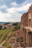 A corner of the ancient ruins and Rome cityscape Royalty Free Stock Image