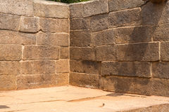 Corner of an ancient wall, stone blocks Stock Image