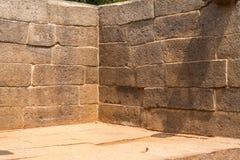 Corner of an ancient wall, stone blocks Stock Image
