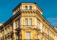 Corner of apartment building facade Stock Image
