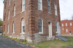 Corner and Back of Brick Building Royalty Free Stock Photography