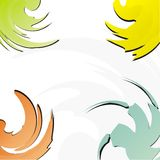 Corner background. Various corner shaped elements in vector Royalty Free Stock Image