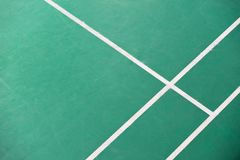 Corner of badminton court stock photo