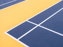 Corner of badminton court Stock Photos