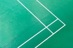 Corner of badminton court. Top view. stock photo