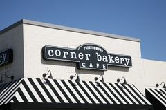 Corner Bakery Cafe Sign, Dallas Texas Stock Image