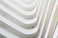 Corner balconies that go up Stock Photo