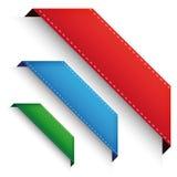 Corner banner - Crorner ribbon set Royalty Free Stock Photography