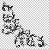 Corner baroque ornament decoration element. Royalty Free Stock Photography