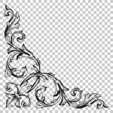 Corner baroque ornament decoration element. Royalty Free Stock Images