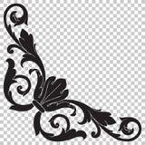 Corner baroque ornament decoration element. Royalty Free Stock Image