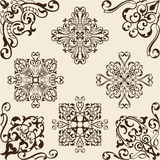 Corner baroque set Royalty Free Stock Photos