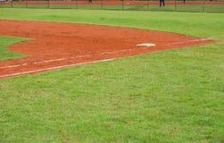Corner of baseball field Royalty Free Stock Photo