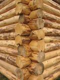 Corner baths of round logs Royalty Free Stock Photos