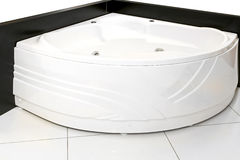Corner bathtub Stock Image