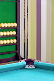 Corner of of a billiard table. Royalty Free Stock Photo